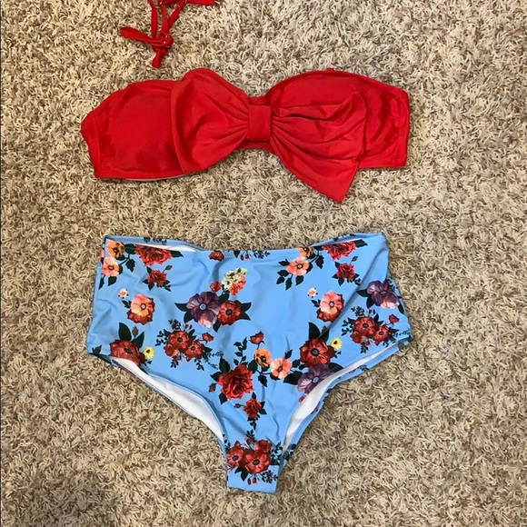 b8dedbcd75 SHEIN Swim | 2 Piece High Waisted Suit | Poshmark